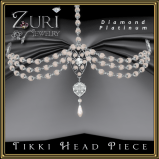 Sari Tikki Diamond-Cream pearls-platinum