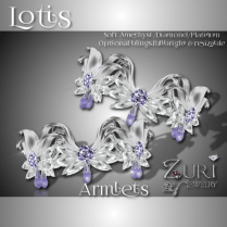 Lotis Armlets - Soft Amethyst-Dia-Platinum