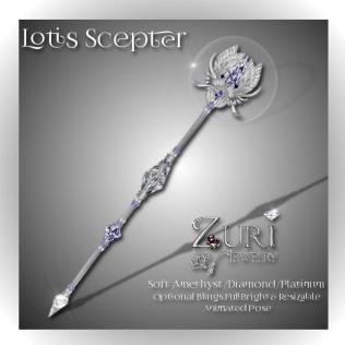 Lotis Scepter - Soft Amethyst-Diamond-Platinum