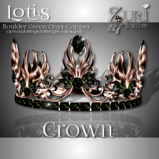 Zuri Rayna - Lotis Crown-Onyx Green_Boulder Opal_CopperPIC