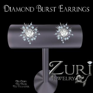 Zuri's Diamond Burst EarringsPIC