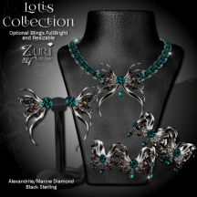 Lotis Collection - Alexandrite_Marine-Blk Sterling