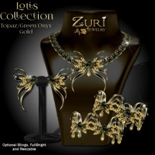 Lotis Collection - Topaz_Green Onyx_Gold