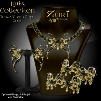 Lotis Collection - Topaz_Green Onyx_Gold