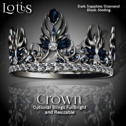 Lotis Crown - Dark Sapphire_Diamond