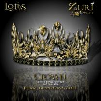 Lotis Crown - Topaz_Green Onyx_Gold