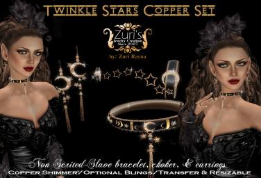 Twinkle Stars Copper Set