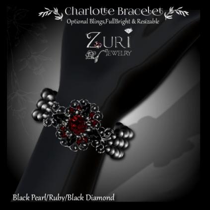 Charlotte Bracelet - Pearl_Ruby_Onyx