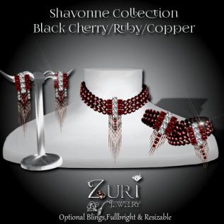Shavonne Set - Black Cherry_Ruby_Copper
