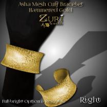 new-fifty5l-sale-zuris-asha-mesh-bracelet-r-hammered-gold