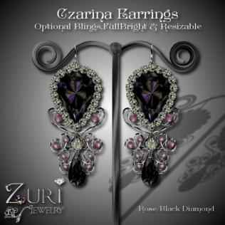 zuri-rayna-czarina-earrings-rose-blk-diamond