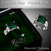 Forever Ring - Emerald-Platinum