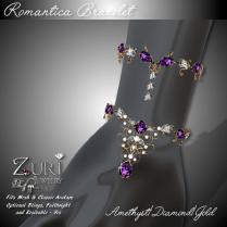 Romantica Bracelet - Amethyst_Dia_Gold