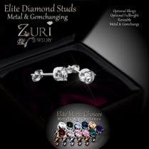 Zuri Rayna - Diamond Stud Earrings - Elite