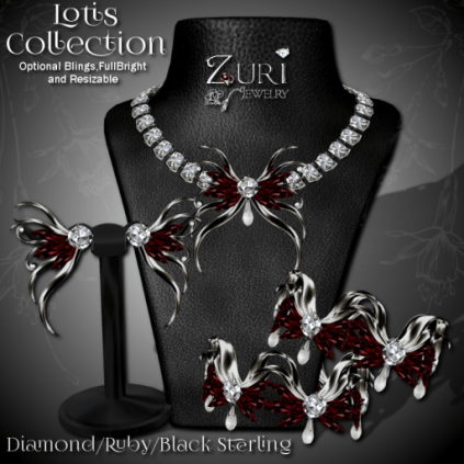 Zuri Rayna - Lotis Collection - Diamond_Ruby_Blk Sterling