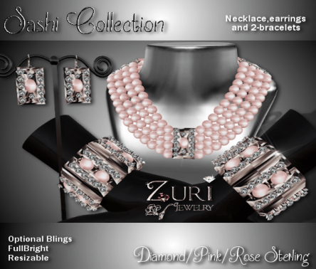 Zuri Rayna-Sashi Collection - Diamond_Pink_Rose SterlingPIC