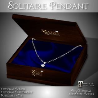 Zuri Rayna - Solitaire Pendant - Diamond_SterlingPIC