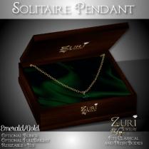 Zuri Rayna - Solitaire Pendant - Emerald_GoldPIC