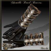 Chamille Pearl Bracers-Mocha-Zuri Rayna Jewelry
