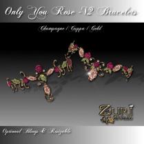 Only You Rose V2 Cuppa Champagne Bracelets