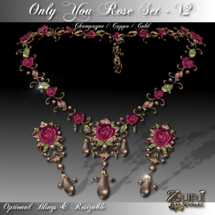 Only You Rose V2 Cuppa Champagne Set