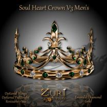 Soul Heart Crown V3 - Emerald_Dia_Gold