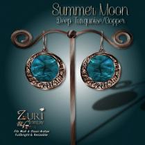 Summer Moon Earrings - Deep Turquoise_Copper