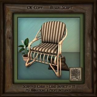 Tropics Blonde Patio Chair Left Bb