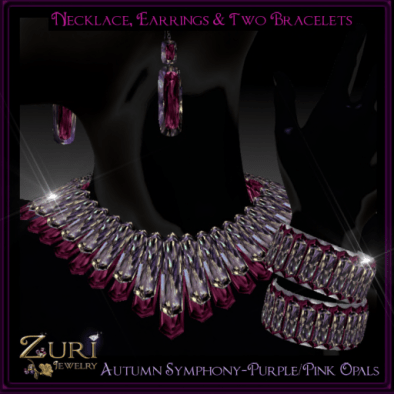 Zuri Rayna~ Autumn Symphony- Purple_Pink OpalsPIC