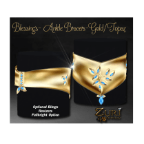Blessings Ankle Bracers Set-Gold-Topaz