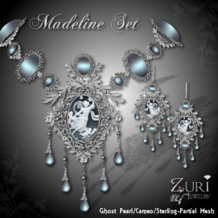Madeline Cameo Set - Ghost Pearl_Sterling