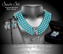 Saschi Set - Turquoise_Diamond_Blk Sterling