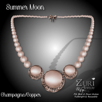 Summer Moon Necklace - Champagne_Copper