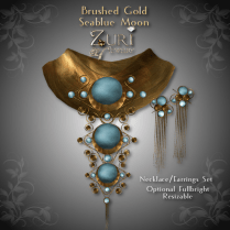 Brushed Gold-Seablue Moon Set