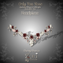Only You Rose Headpiece - Cherry-Bronze