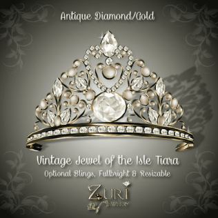 Vintage Jewel of the Isle Tiara - Antique