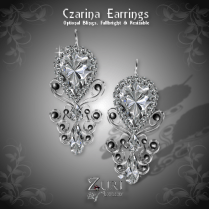 Czarina Earrings - Diamond_Black Pearl