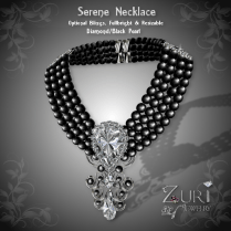 Serene Necklace - Diamond_Black Pearl