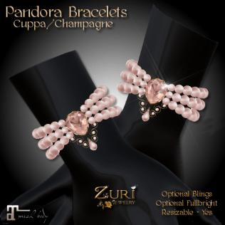Zuri Rayna - Pandora Bracelets -Cuppa_ChampagnePIC