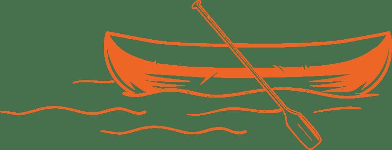 Zusammen raus Kanu Illustration