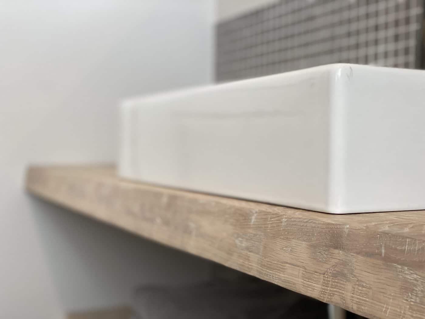 Waschtischplatte aus Eiche im Wunschformat • Zuschnittprofi.de