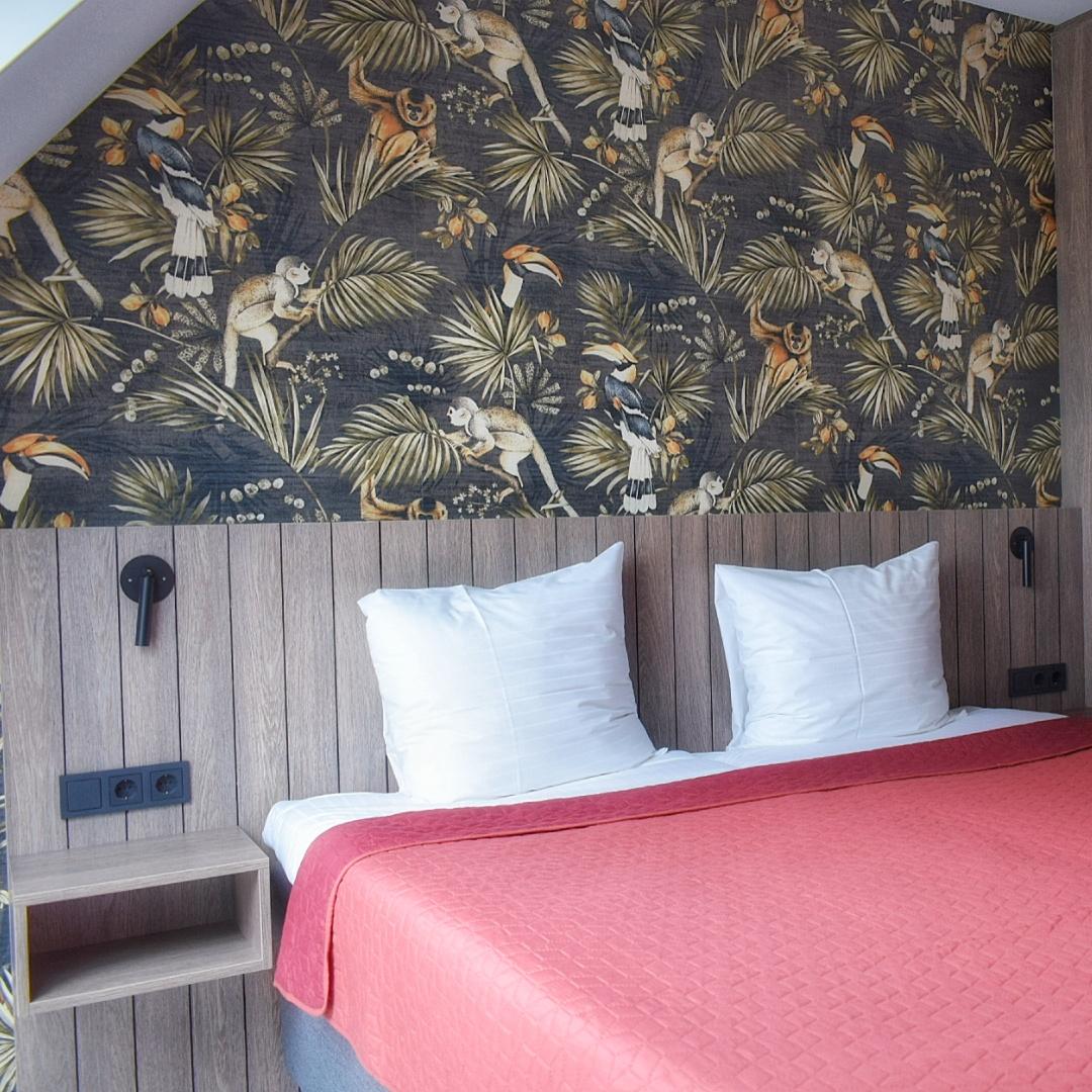 Slaapkamer van de boerderijwoningen in Bumastate Leeuwarden.
