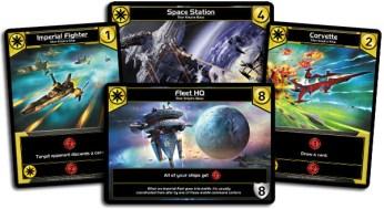 Quelques cartes de la faction jaune