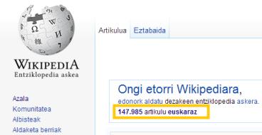 Euskarazko Wikipedian 1.000 sarrera berri igo dituzte