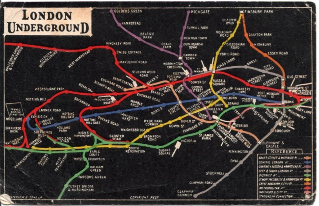 london underground map 1908