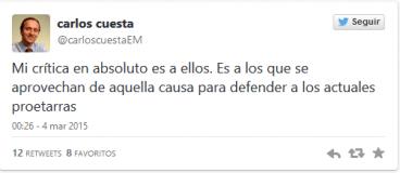 Carlos Cuestak twitter-en