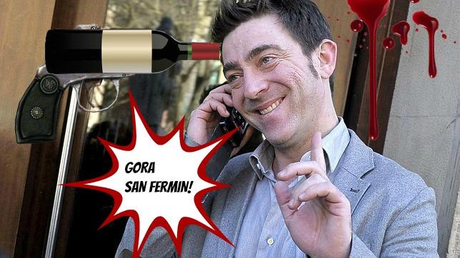 Roberto Jimenezi San Ferminetan mikrofono bat ematen zaionean... (Audioa)