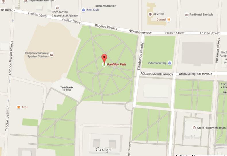 Leku Urrunen Atlasa: Panfilov parkea, Bishkek