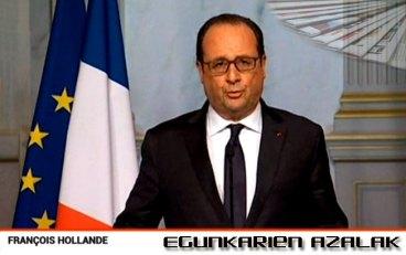 Pariseko atentatuen egunaren osteko egunkarien azalak
