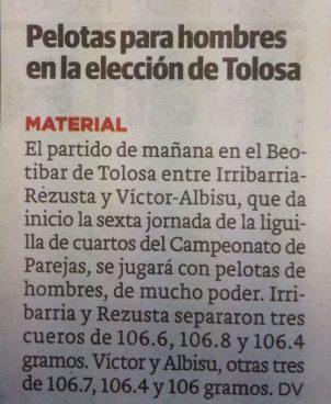 Diario Vasco, potroekin pilotan